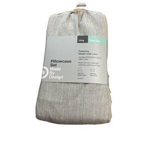 Made by Design KING Pillowcases Solid Light Gray